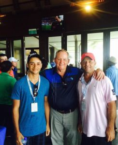 Jack Newton with Tristan Levestam and Greg Levestam  at the Fiji International 2015
